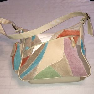 Traditions Suede Patchwork Purse/Bag New